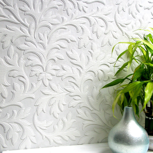 437 RD80026 Brewster Wallcoverings Anaglypta XII High Leaf Paintable  Wallpaper