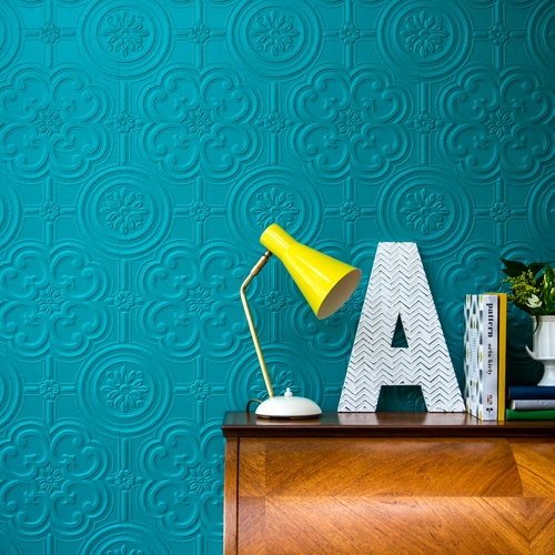 Brewster Wallcovering Anaglypta XII Egon Paintable Wallpaper Room Setting