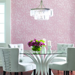 CP1241 York Wallcovering Candice Olson Breathless Lavish Wallpaper Room Setting