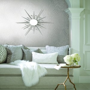 CP1266 York Wallcovering Candice Olson Breathless Modern Fern Wallpaper Room Setting