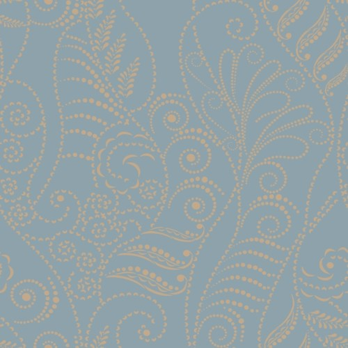 CP1271 York Wallcovering Candice Olson Breathless Modern Fern Wallpaper Denim