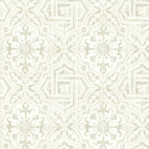 3117-12333 Brewster Wallcovering Chesapeake The Vineyar Sonoma Spanish Tile Wallpaper Grey