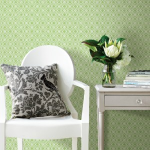 3117-24178 Brewster Wallcovering Chesapeake The Vineyard Napa Geometric Wallpaper Room Setting