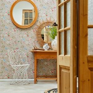 375001 Brewster Wallcovering Eijffinger Pip Studio Espen Floral Wallpaper Room Setting