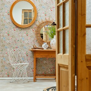 375001 Brewster Wallcovering Eijffinger Pip Studio Espen Floral Wallpaper Room Setting