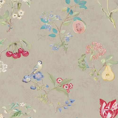375021 Brewster Wallcovering Eijffinger Pip Studio Danique Garden Wallpaper Khaki