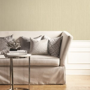 BM61807 Wallquest Wallcovering Balmoral High Lines Wallpaper Taupe Room Setting