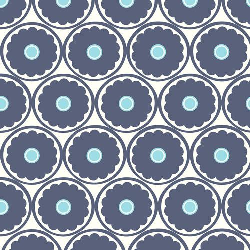2782-24506 Brewster Wallcovering A Street Prints Habitat Buttercup Flower Wallpaper Blue