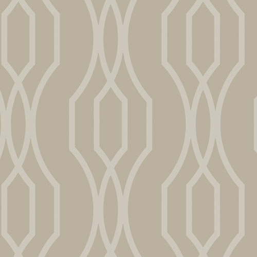 2872-24513 Brewster Wallcovering A Street Prints Habitat Coventry Trellis Wallpaper Taupe