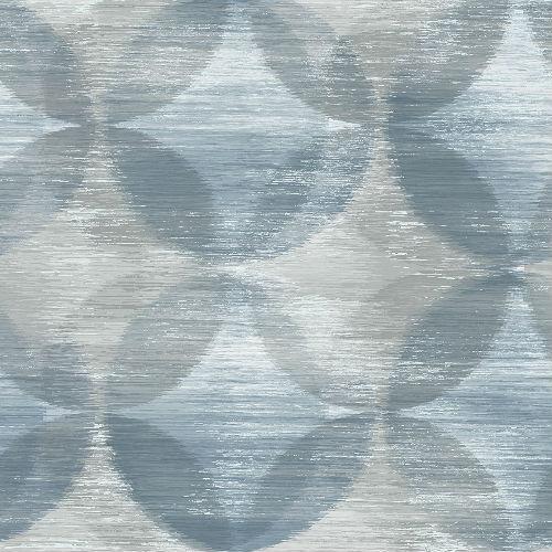 2793-24704 Brewster Wallcovering A Street Prints Celadon Alchemy Geometric Wallpaper Blue