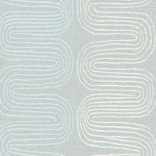 2793-24743 Brewster Wallcovering A Street Prints Celadon Zephyr Abstract Stripe Wallpaper Light Blue