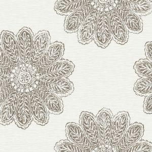 2793-24748 Sol Medallion Wallpaper Espresso