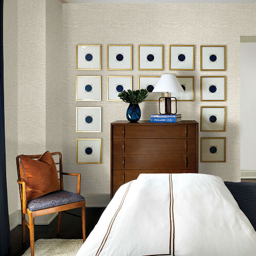 2767-24450 Brewster Wallcovering Techniques and Finishes 3 Goodwin Bark Texture Wallpaper Room Setting