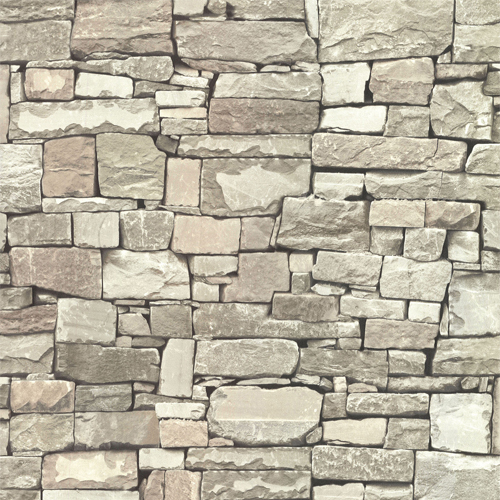 2774-859119 Brewster Wallcovering Advantage Stones and Woods Wrangell Stacked Slate Wallpaper Beige