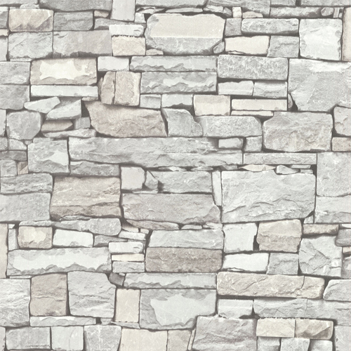 2774-859126 Brewster Wallcovering Advantage Stones and Woods Wrangell Stacked Slate Wallpaper Cream