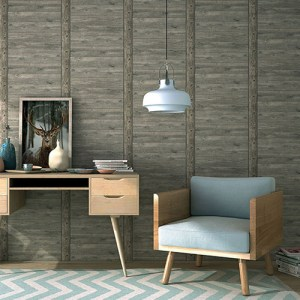 2774-861419 Brewster Wallcovering Advantage Stones and Woods, Absaroka Shiplap Wallpaper Room Setting
