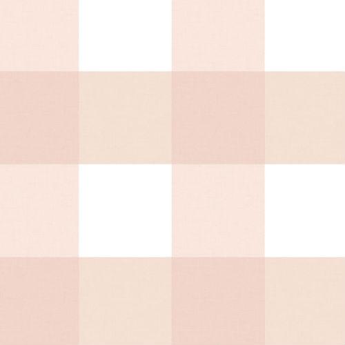3115-12534 Brewster Wallcovering Chesapeake Farmhouse Selah Gingham Wallpaper Light Pink