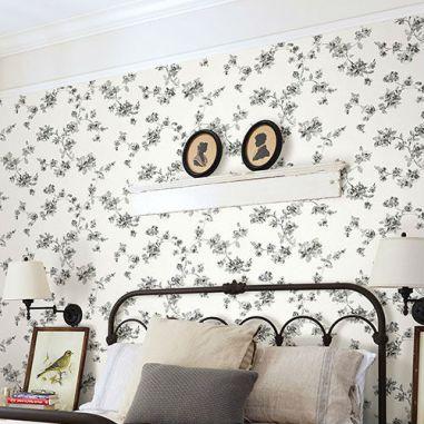 Image result for floral wallpaper room