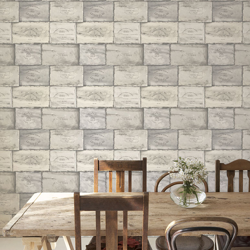 CK36612 Patton Wallcovering Creative Kitchens Wine Crate Wallpaper Room Setting