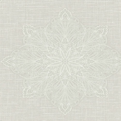 1620010 Seabrook Wallcovering Etten Gallerie Bruxelles Filigree Medallion Wallpaper Grey