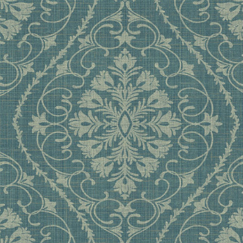 1620902 Seabrook Wallcovering Etten Gallerie Bruxelles Ogee Damask Wallpaper Teal Blue