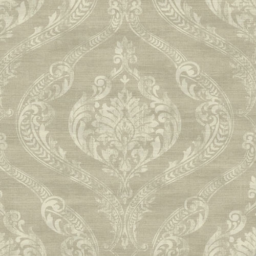 1621805 Seabrook Wallcovering Etten Gallerie Bruxelles Bruxelles Damask Wallpaper Taupe