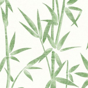 2766-003534 Brewster Wallcovering Kitchen and Bath Essentials Catasetum Bamboo Wallpaper Green