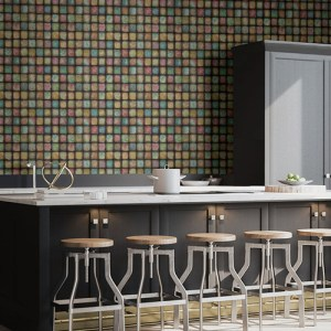 2766-24080 Brewster Wallcovering Kitchen and Bath Essentials Soucy Tiles Wallpaper Room Setting