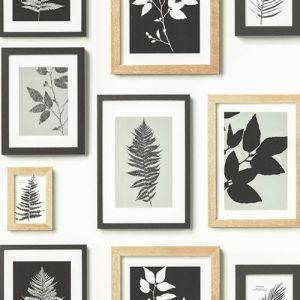 2773-937503 Brewster Wallcovering Advantage Neutral Black White Rumer Gallery Wallpaper