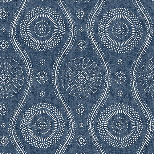 2785-24802 Brewster Wallcoverings A Street Prints Sarah Richardson Signature Painterly Wallpaper Indigo