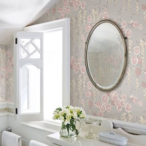 2785-24831 Brewster Wallcovering A Street Prints Sarah Richardson Signature Peony Tree Wallpaper Petal Room Setting
