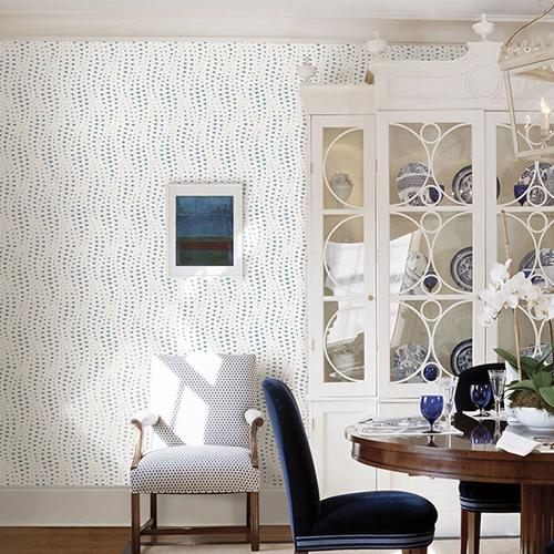 Sarah Richardson Dining Room: Wavelength Wallpaper By Sarah Richardson
