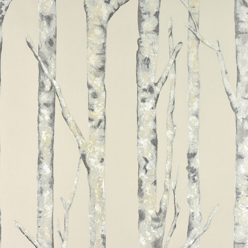 2811-BLW10503 Brewster Wallcovering Advantage Nature Cameron Trees Wallpaper Cream