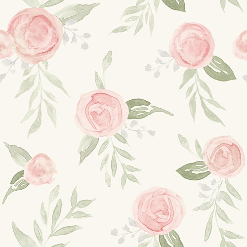 MK1128 York Wallcoverings Joanna Gaines Magnolia Home 3 Artful Prints and Patterns Watercolor Roses Wallpaper Blush