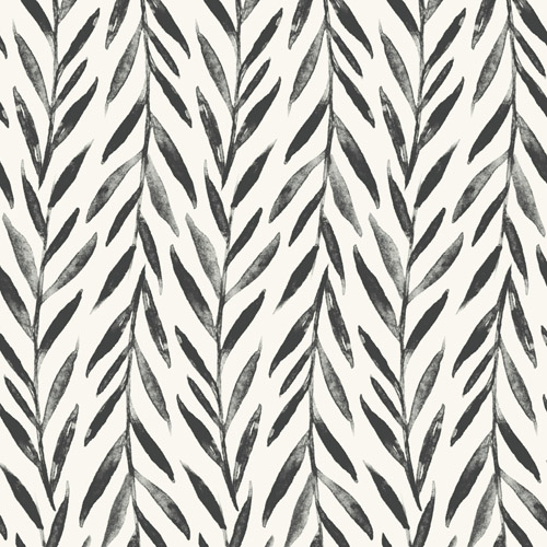 MK1135 York Wallcoverings Joanna Gaines Magnolia Home 3 Artful Prints and Patterns Willow Wallpaper Black
