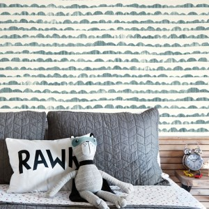MK1143 York Wallcoverings Joanna Gaines Magnolia Home 3 Artful Prints and Patterns Hill and Horizon Wallpaper Room Setting