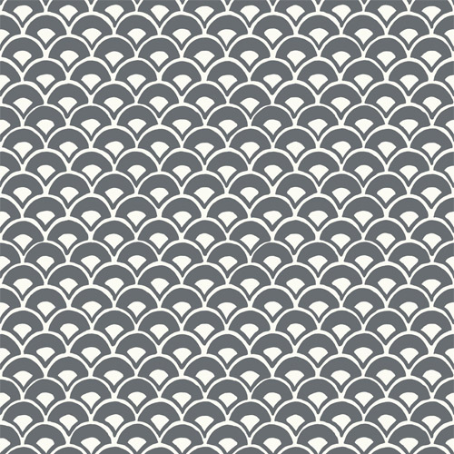 MK1150 York Wallcoverings Joanna Gaines Magnolia Home 3 Artful Prints and Patterns Stacked Scallops Wallpaper Charcoal