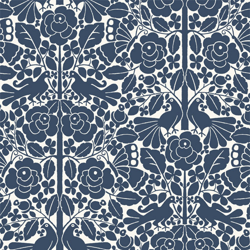 MK1166 York Wallcoverings Joanna Gaines Magnolia Home 3 Artful Prints and Patterns Fairy Tales Wallpaper Navy