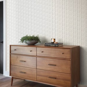 MK1170 York Wallcoverings Joanna Gaines Magnolia Home 3 Artful Prints and Patterns Pick-Up Sticks Wallpaper Room Setting