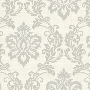 2765-BW40108 Brewster Wallcovering Kenneth James Geo Tex Adela Twill Damask Wallpaper Ivory