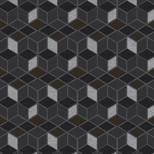 2809-IH18107 Brewster Wallcovering Advantage Geo Joanne Blox Wallpaper Charcoal