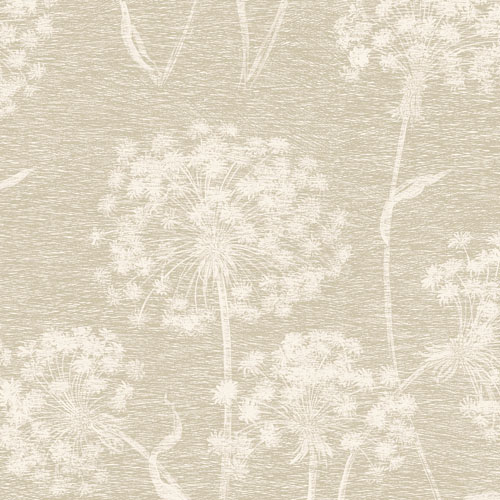 2811-24577 Brewster Wallcovering Advantage Nature Carolyn Dandelion Wallpaper Bone