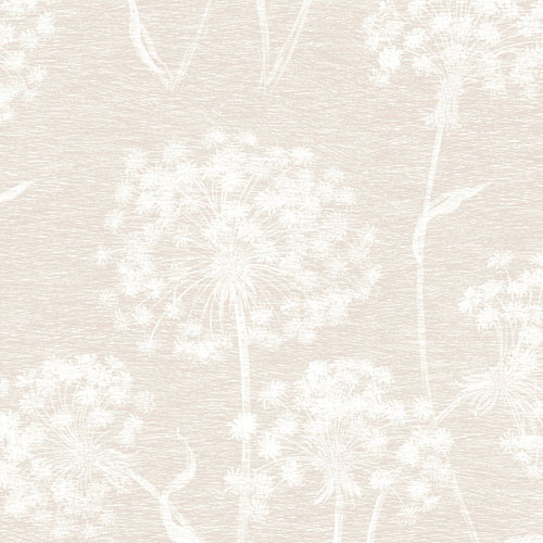 2811-24578 Brewster Wallcovering Advantage Nature Carolyn Dandelion Wallpaper Cream