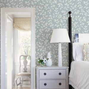2811-87724 Brewster Wallcovering Advantage Nature Torrey Leaf Trail Wallpaper Room Setting