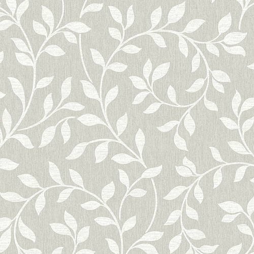 2811-87725 Brewster Wallcovering Advantage Nature Torrey Leaf Trail Wallpaper Light Grey