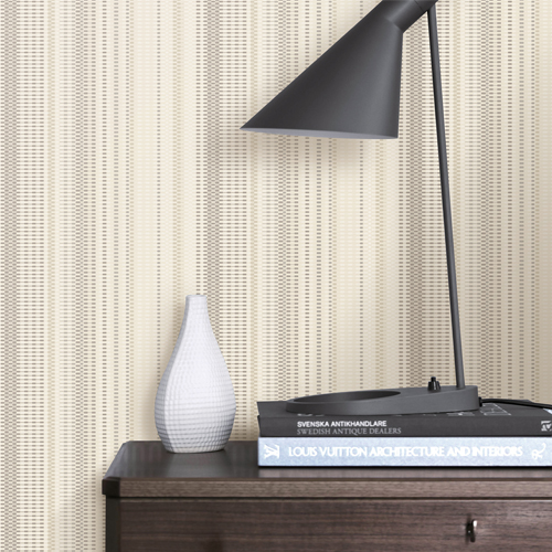 2812-LH00719 Brewster Wallcovering Advantage Surfaces Morgen Stripe Wallpaper Gold Room Setting