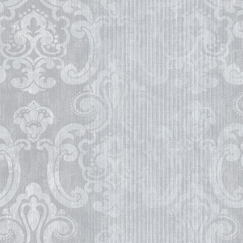 2810-SH01043 Brewster Wallcovering Advantage Tradition Ariana Striped Damask Wallpaper Silver