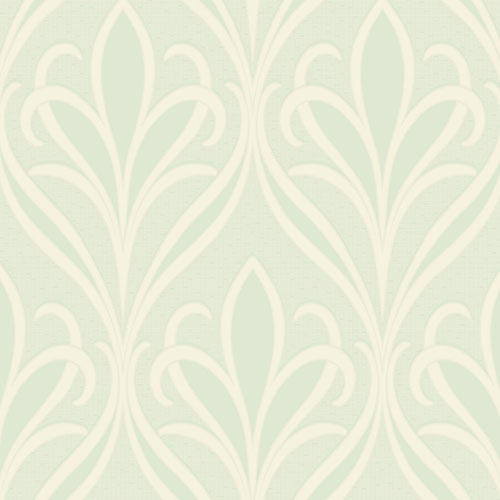 2810-XSS0503 Brewster Wallcovering Advantage Tradition Vivian Nouveau Damask Wallpaper Seafoam