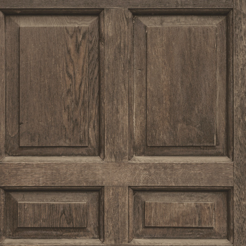 DI4747 York Wallcovering Dimensional Artisty Front Door Wallpaper Dark Brown