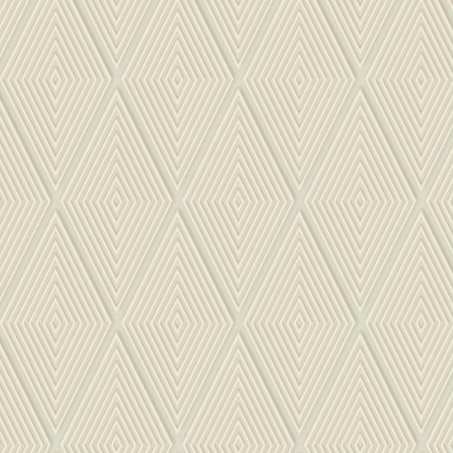DI4761 York Wallcovering Dimensional Artistry Conduit Diamond Wallpaper Beige